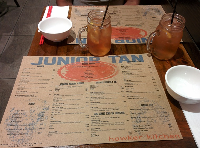 Junior Tan Menu