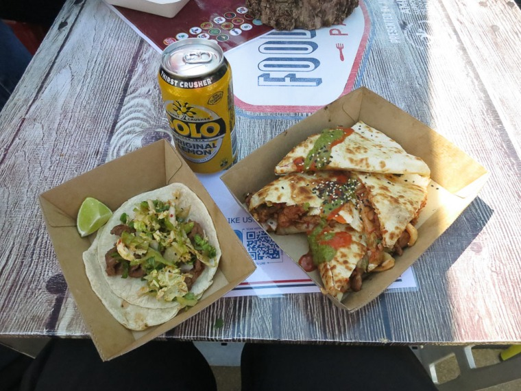 Tacos and Quesadilla