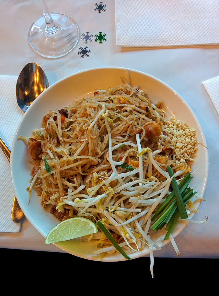Crispy Pork Stir Fried Rice Noodles