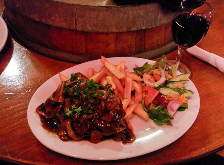 Steak and Red at the Oak Tree Tavern