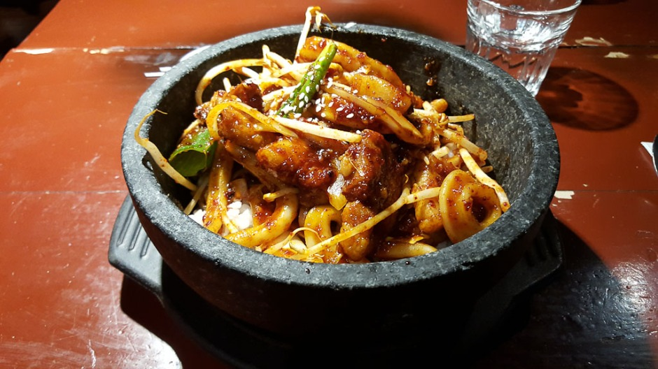 Spicy Pork and Squid Hotpot